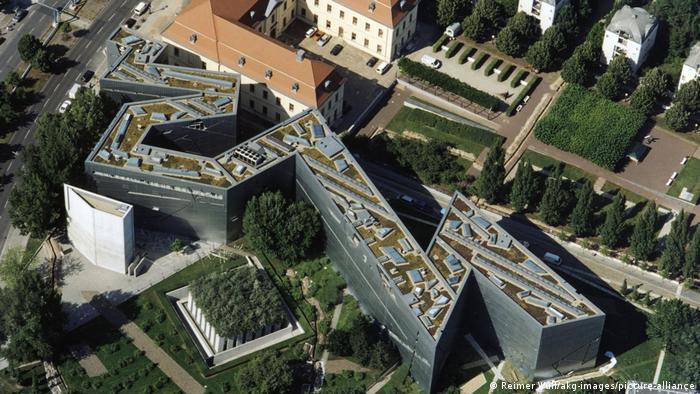 Fotografía aérea del Museo Judío de Berlín.