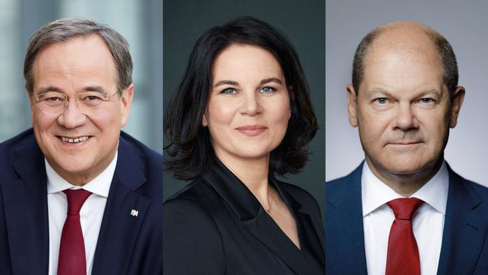 DW Bundestagswahl 2021 Triell Baerbock Laschet Scholz