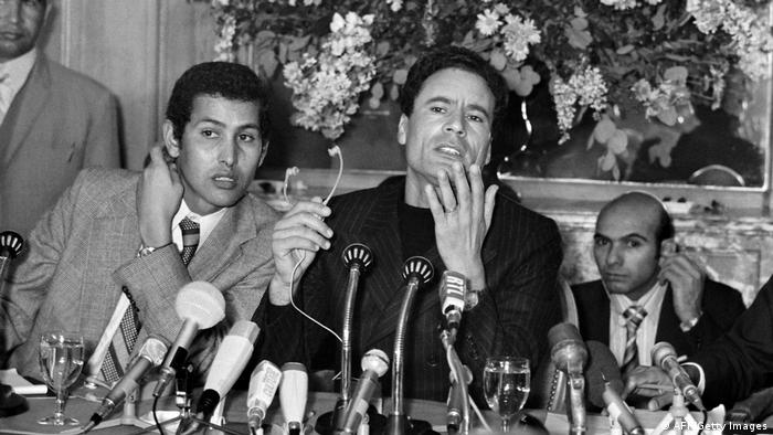 The Libyan leader Moammar Gadhafi at a press conference in Paris in 1973.