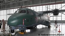 Airbus shows off maritime patrol plane in Seoul A C295 maritime surveillance aircraft manufactured by Airbus is displayed at a hangar of Gimpo International Airport in western Seoul on July 14, 2017. (Yonhap)/2017-07-14 14:20:19/ <Copyright _Ï 1980-2017 YONHAPNEWS AGENCY. All rights reserved.>
