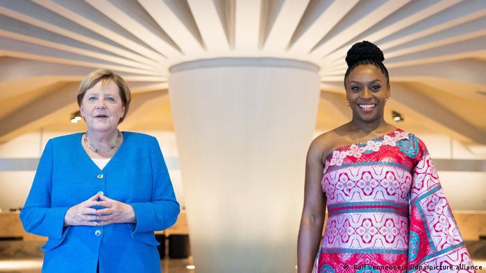 Angela Merkel and Chimamanda Ngozi Adichie