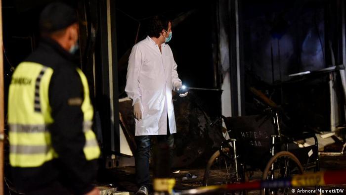 Nordmazedonien Feuer im Krankenhaus in Tetovo