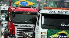 Truck drivers take part in a motorcade in support of Brazil's President Jair Bolsonaro, in Gravatai, Rio Grande do Sul state, Brazil, September 7, 2021. REUTERS/Diego Vara