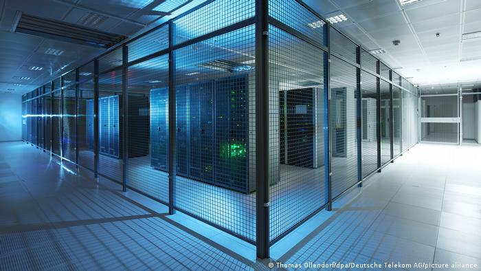 A cloud-computing data center in Germany run by T-Systems in cooperation with Google
