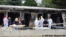 Brand in einem Krankenhaus in der Stadt Tetovo, Nordmazedonien. 09.09.2021 DW/Petr Stojanovski
