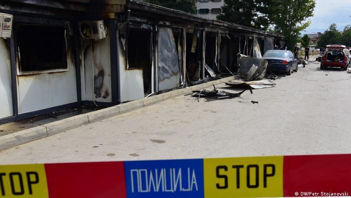 Nordmazedonien Brand in einem Krankenhaus in der Stadt Tetovo