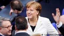 9.9.2021, Deutschland, Es handelt sich um ein Foto von Laurence Chaperon. Die Verwendung als Vorschaubild für die Fokus Europa-Sendungsseite ist gegeben. Titel: Fokus Europa Deutschland Merkel Bundestag Tags: Deutschland, Merkel, Bundestag