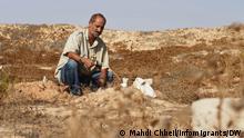 "28.8.2021, Zarzis, Tunesien, Shams El-Din Marzouki at the ""cemetery of the unknown"" in Zarzis, August 28, 2021."