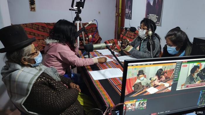 DW Akademie Radioprogramm des indigenen Frauenverbands Unión deMujeresAymara deAbyaYala, Peru
