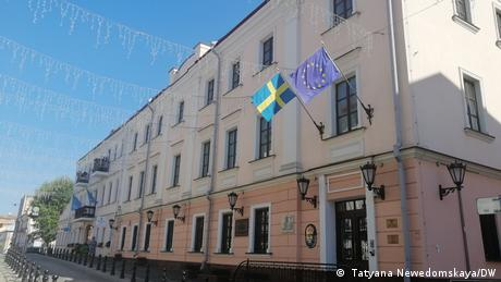Belarus men holed up in Swedish embassy one year on
