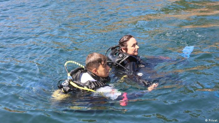 Komisyon üyeleri denizin altında da incelemelerde bulundu