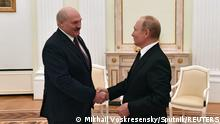 Russian President Vladimir Putin meets with his Belarusian counterpart Alexander Lukashenko at the Kremlin in Moscow, Russia September 9, 2021. Sputnik/Mikhail Voskresensky/Kremlin via REUTERS ATTENTION EDITORS - THIS IMAGE WAS PROVIDED BY A THIRD PARTY.