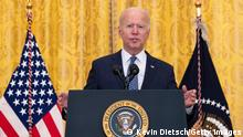 WASHINGTON, DC - SEPTEMBER 08: U.S. President Joe Biden speaks on workers rights and labor unions in the East Room at the White House on September 08, 2021 in Washington, DC. Biden spoke on the need to protect workers rights and the middle class. (Photo by Kevin Dietsch/Getty Images)