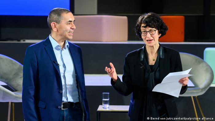 BioNTech co-founders Uğur Şahin (left) and Özlem Türeci (right)