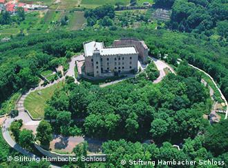 Vista aérea do Castelo de Hambach