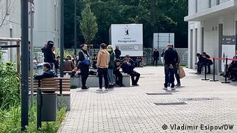 Претенденты на статус беженца в Берлине