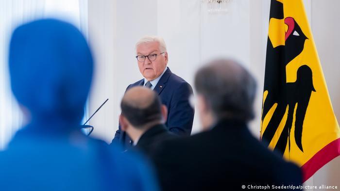 Treffen von Bundespräsident Steinmeier mit Bürgern mit türkischen Wurzeln im Schloss Bellevue