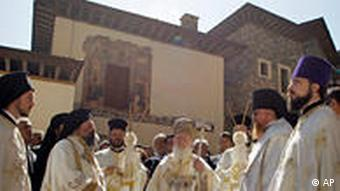 The Divine Liturgy service at Sumela monastery