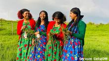 Ethiopian Celeberates its New year on 11.09.2021 - Ethiopian Calander 2014 'Shinoye' is a traditional girls' New Year's game