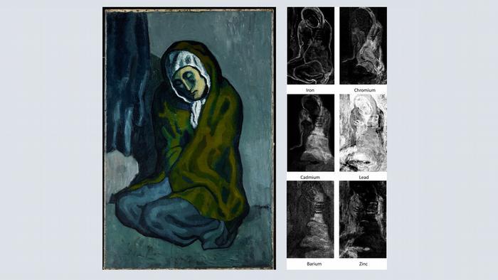 Бедността не е била чужда и за Пабло Пикасо. За своята картина Приклекналата беднячка (1902) той е използвал платно с картина на неизвестен художник. През 2018 г. канадски изследователи откриха, че под жената има пейзаж, по чиито контури Пикасо дори се е ориентирал.