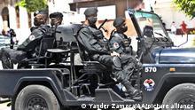 HAVANA, CUBA - JULY 21: Special forces troops patrol at Prado Avenue following the protests in Cuba, Havana on July 21, 2021. Yander Zamora / Anadolu Agency