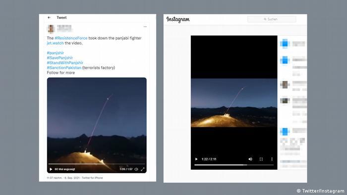 Kombination zweier Screenshots, die dasselbe Video zu unterschiedlichen Zeitpunkten zeigen