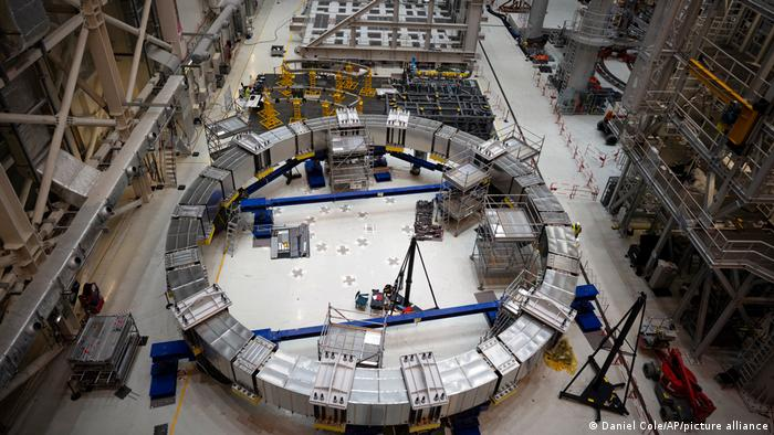 Un componente de la bobina de la máquina ITER.