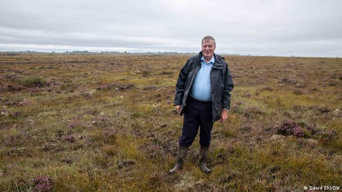 Paul Connaughton stands on the Carrownagappul bog in Ireland