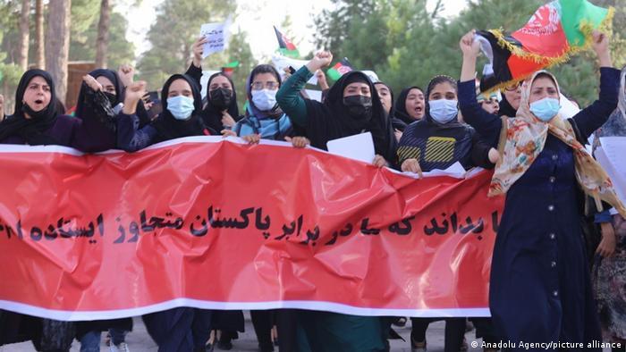 Prosvjedi žena u Heratu 7. rujna 2021.