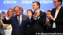 Christian Democratic Union of Germany (CDU) candidate for chancellor Armin Laschet gestures during a CSU party meeting in Nuremberg, Germany, September 11, 2021. REUTERS/Wolfgang Rattay
