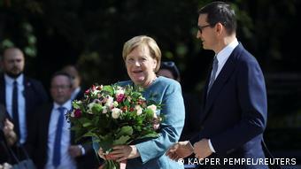 Angela Merkel and Mateusz Morawiecki in Warsaw