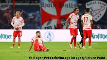 RB Leipzig - Bayern Muenchen / 11.09.2021 Leipzig, 11.09.2021, Red Bull Arena, Fussball Bundesliga, 4. Spieltag , RB Leipzig vs. FC Bayern München , Im Bild Enttäuschung bei Leipzig nach dem Spiel. Josko Gvardiol 32, RB Leipzig. , DFL regulations prohibit any use of photographs as image sequences and/or quasi-video. , *** RB Leipzig Bayern Muenchen 11 09 2021 Leipzig, 11 09 2021, Red Bull Arena, Fussball Bundesliga, 4 Spieltag , RB Leipzig vs FC Bayern Munich , In picture disappointment at Leipzig after the game Josko Gvardiol 32, RB Leipzig , DFL regulations prohibit any use of photographs as image sequences and or quasi video , Picture Point