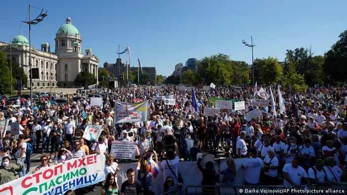 Serbien Belgrad | Umweltprotest gegen Lithium-Mine