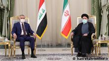 Iran | Treffen Ebrahim Raisi mit Mustafa Alkazemi https://www.hamshahrionline.ir/news/626292/ Mr. Kazemi, the Iraq prime minister visited Iran.s president in Tehran.