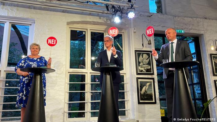 Three of the candidates for Norwegian prime minister