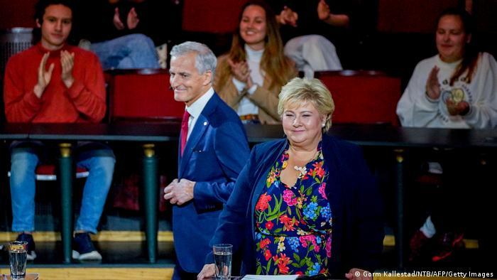 主要竞争者:工党政治家斯特勒 (左)和保守党政府首脑埃尔娜·索尔贝格 (右)