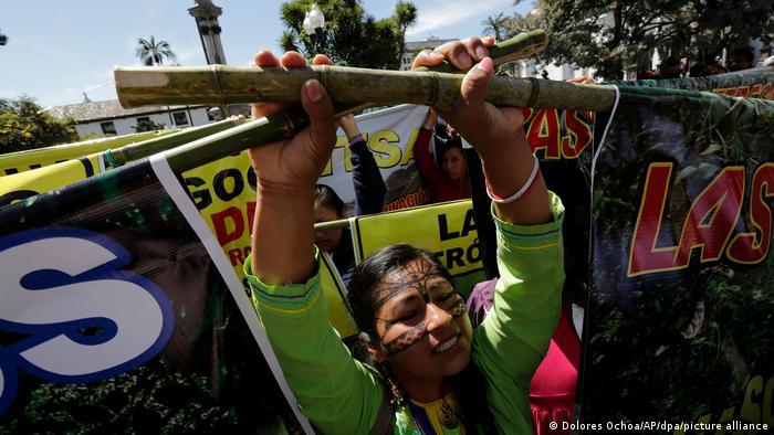 Protest von Umweltaktivisten in Ecuador