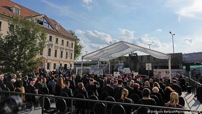 Slowakei Bratislava Papst-Besuch