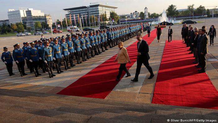 Serbien Belgrad |Angela Merkel, Bundeskanzlerin & Aleksandar Vucic, Präsident