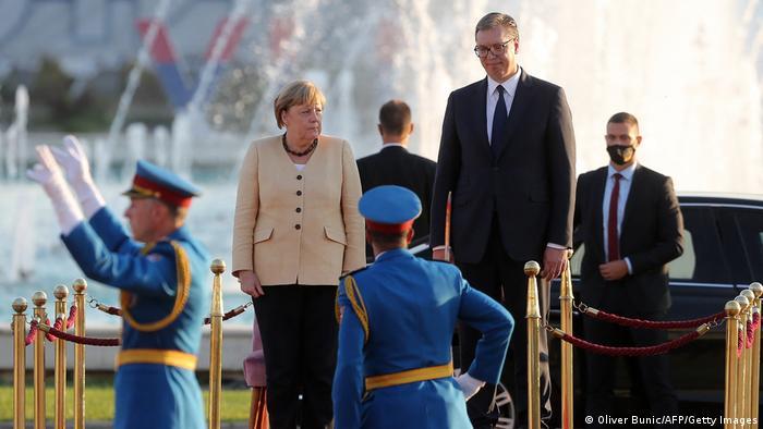 Angela Merkel i Aleksandar Vučić, dan ranije u Beogradu