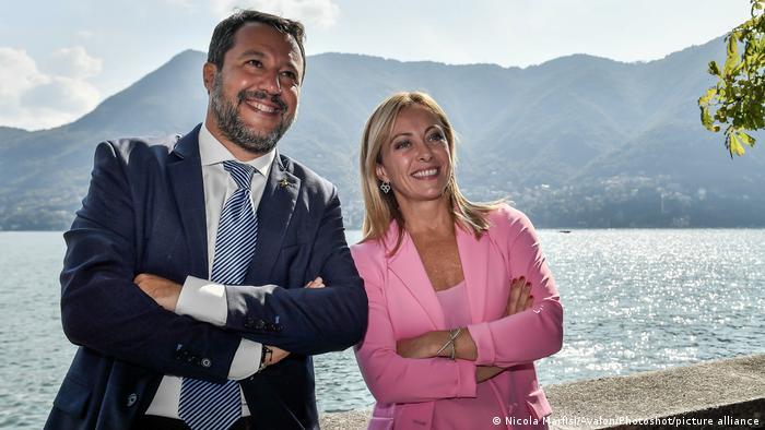 Italien Matteo Salvini und Giorgia Meloni