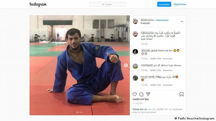 Screenshot Instagram Fethi Nourine