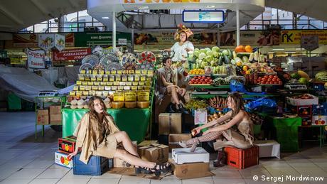 Перформанс Алайский рынок на фестивале 48 часов Новосибирск в 2019 году