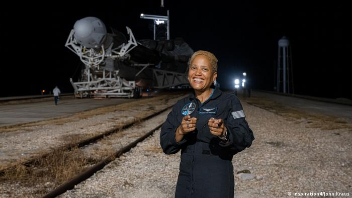 Sian Proctor, one of four crew on the SpaceX Inspiration4 mission 2021