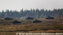 NIZHNY NOVGOROD REGION, RUSSIA - SEPTEMBER 13, 2021: A 2S19 Msta-S self-propelled howitzer takes part in the Zapad 2021 joint Russian-Belarusian military exercises at the Mulino training range. The Zapad-2021 drills are held on September 10-16, 2021, on training grounds of Russia and Belarus and in the water area of the Baltic Sea; the exercises involve about 200,000 people, over 80 aircraft and up to 760 units of military hardware. Sergei Savostyanov/TASS