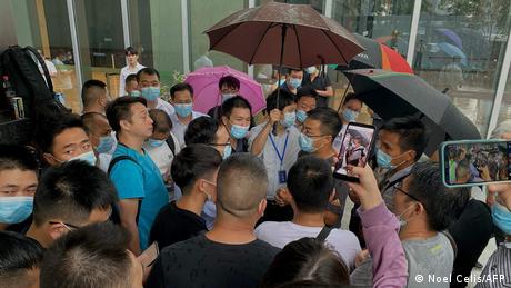 China Schanghai Evergrande Proteste