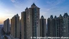 February 18, 2020, Jiangsu, Jiangsu, China: Jiangsu ,CHINA-Evergrande real estate building, Huai 'an city, Jiangsu province, feb 18, 2020...Affected by the epidemic, on February 13, Evergrande real estate took the lead in implementing online purchasing in all real estate projects in China.Then on Feb. 16, it was announced that from Feb. 18 to Feb. 29, real estate sales nationwide would be discounted by 25%, and discounts would be recovered to 20% in March. (Credit Image: © SIPA Asia via ZUMA Wire