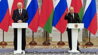 Лукашенко и Путин на совместной пресс-конференции в Кремле, 9 сентября 2021 года
