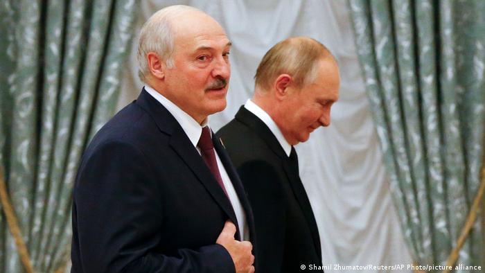 Лукашенко на встрече с Путиным в Кремле, сентябрь 2021 года
