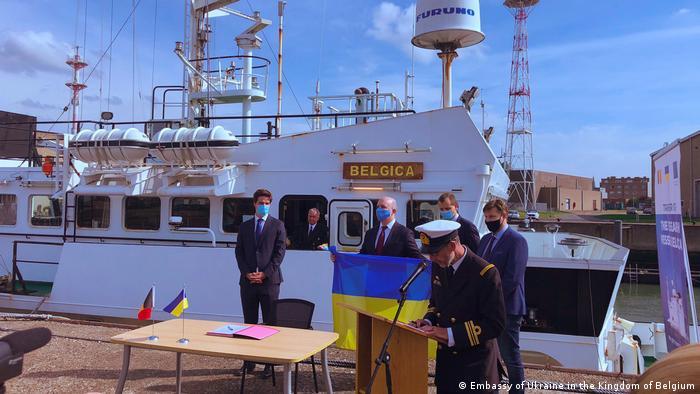 Передача судна в бельгійському порту